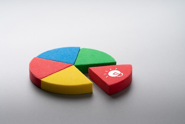 Business & strategy colorful pie chart puzzle