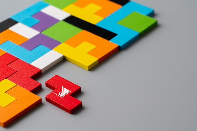 Business & strategy colorful puzzle