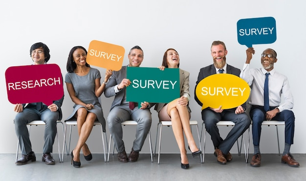 Business survey and research concept