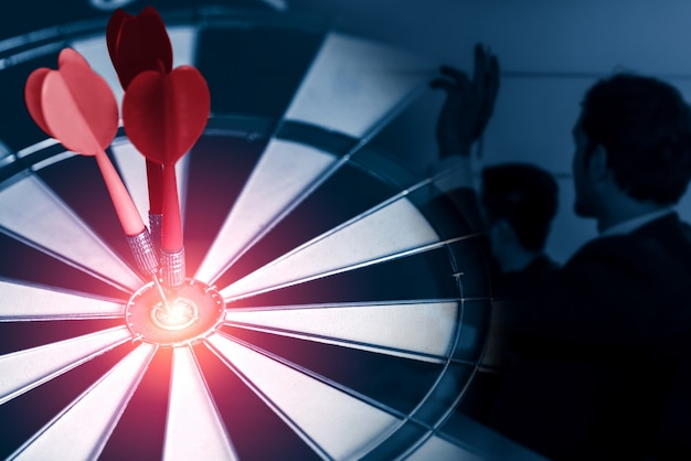 Business target goal for success strategy concept