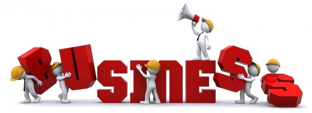 ビジネスを構築するビジネスチーム。