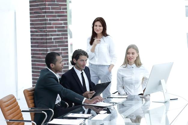 작업 day.office life.photo 복사 공간의 비즈니스 팀