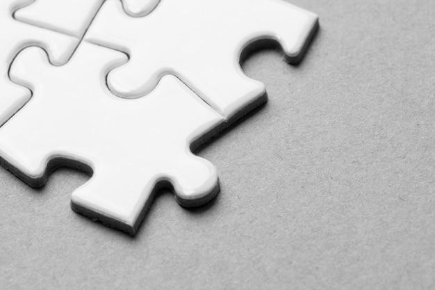 Business team, teamwork by jigsaw