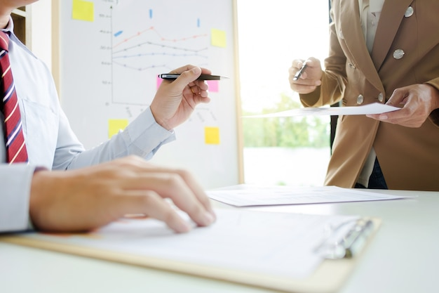 Business team working at a office, meeting concept