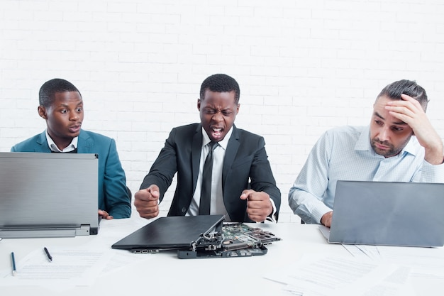 Business team worried because company goes down