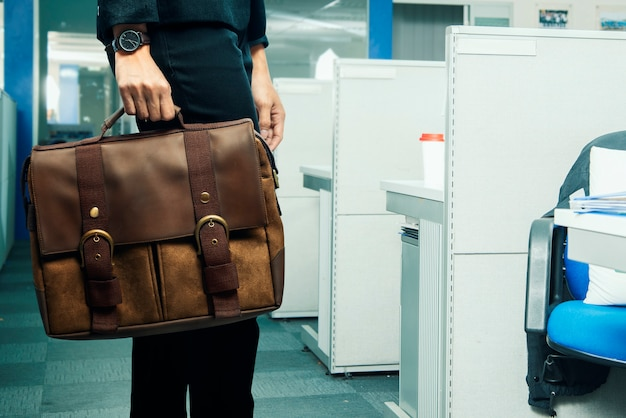 Business woman carrying briefcase