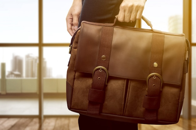 Business woman carrying a briefcase