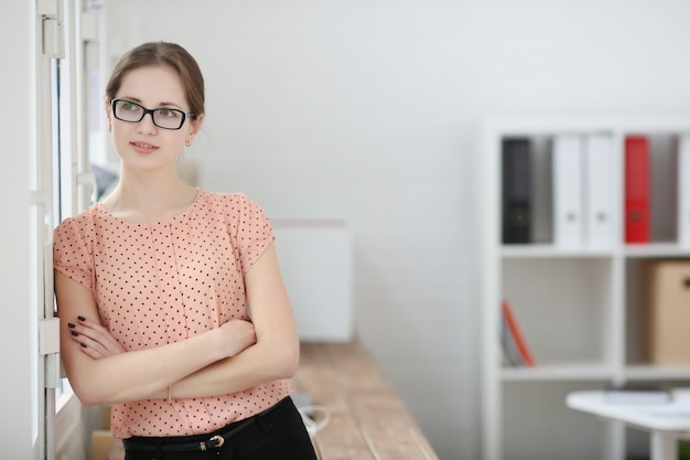 Business woman office portrait