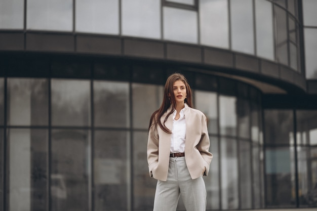 Business woman outside the street
