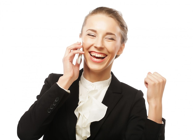 Business woman receiving only good news