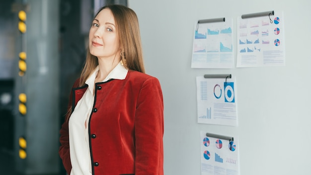 Business woman. successful strong female leader