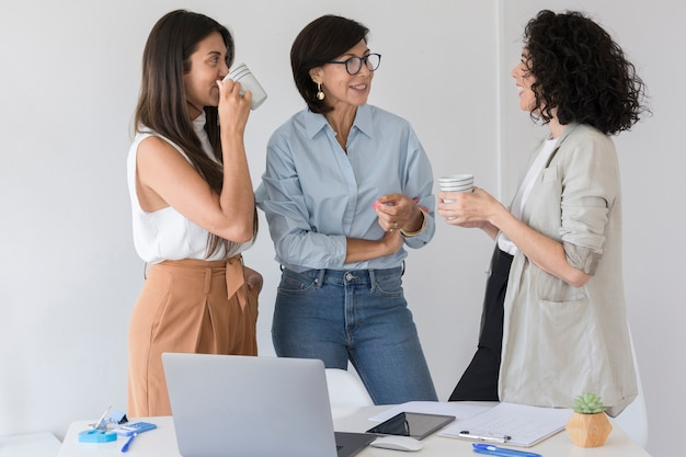 Business women having a chat