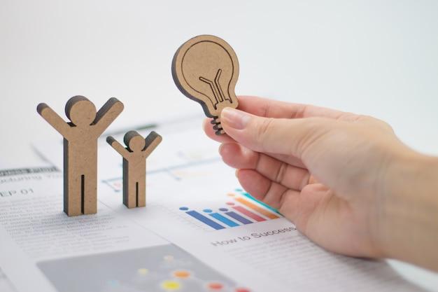 Business wood success concept