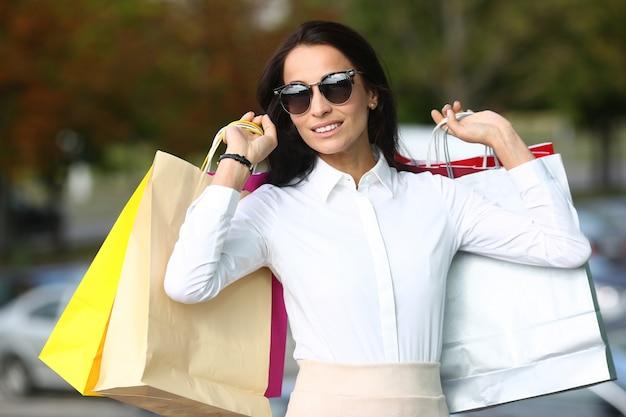 Businesslady on fashionable shopping