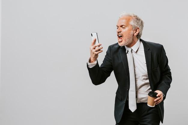 Концепция профессии взрослый портрет бизнесмена