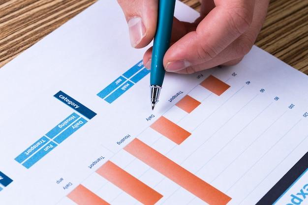 投資チャートを分析するビジネスマン