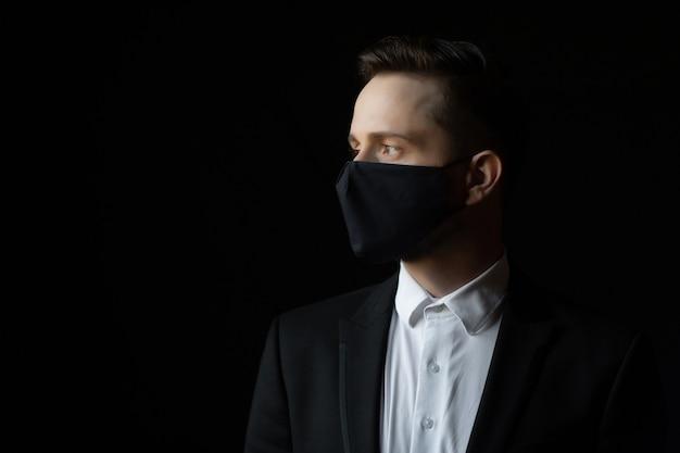 사업가 및 코로나 바이러스 전염병 개념