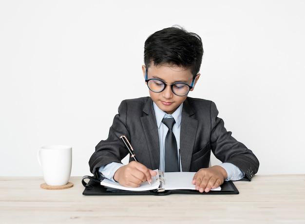 사업가 소년 젊은 직업 꿈 직업