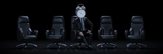 Businessman in business concept 3d rendering