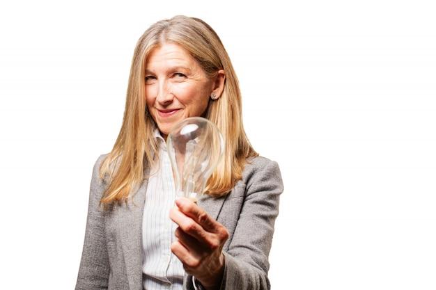 Бизнесмен предприниматель воображение стильный леди
