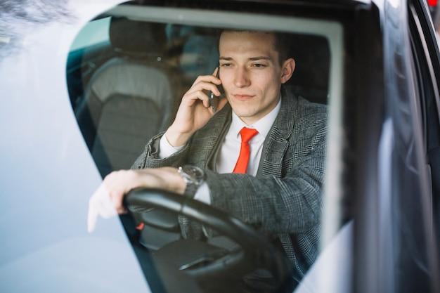 Businessman calling