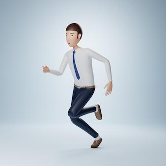 Бизнесмен мультипликационный персонаж работает позы изолированные