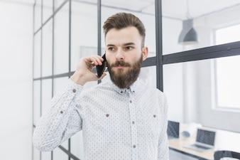 Businessman doing phone call