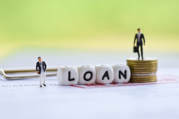 Businessman financial loan negotiation for lender and borrower