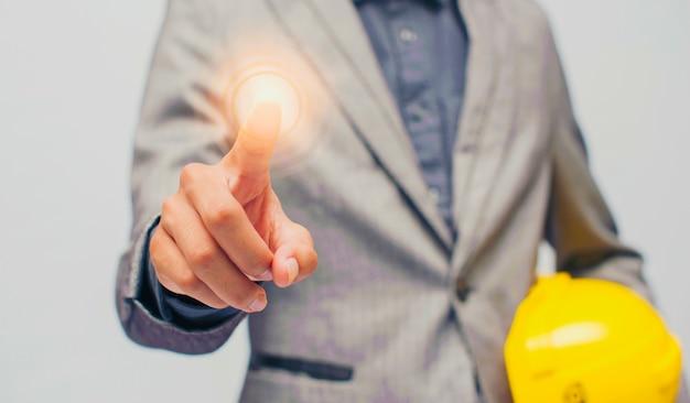 Businessman finger tips
