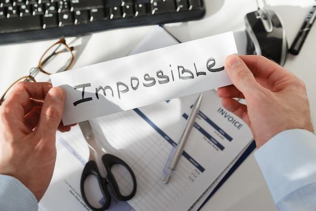 ビジネスマンは不可能な仕事を得る