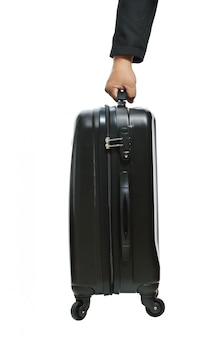 Businessman hand with luggage