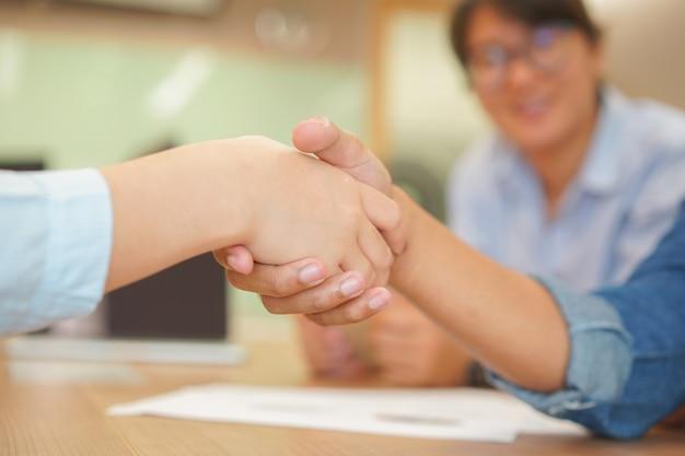 Businessman handshake with partner vendor