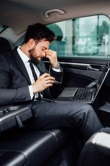 Businessman has a headache