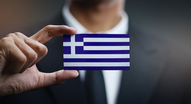 ギリシャの国旗の実業家保有カード