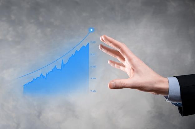 Бизнесмен, холдинг граф увеличивается.