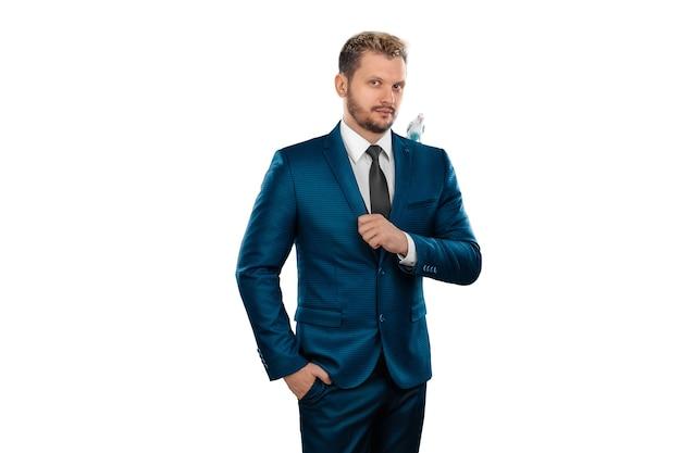 孤立したビジネススーツのビジネスマン