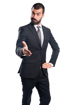 Businessman making a deal