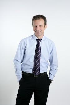 Businessman medium age tie posing