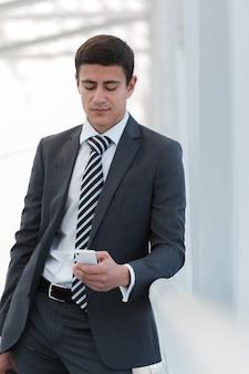 Businessman mobile phone