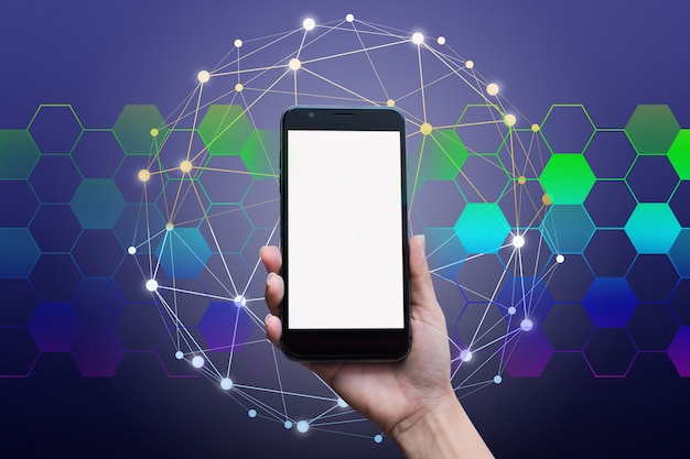 Businessman network technology and  communication