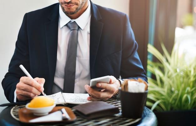 Businessman office worker planning startegy concept