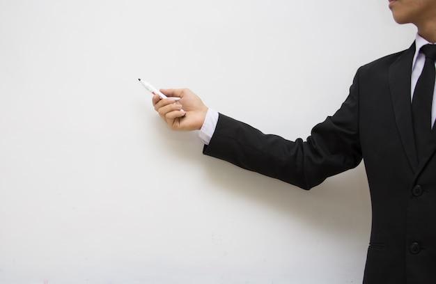 Businessman pointing board