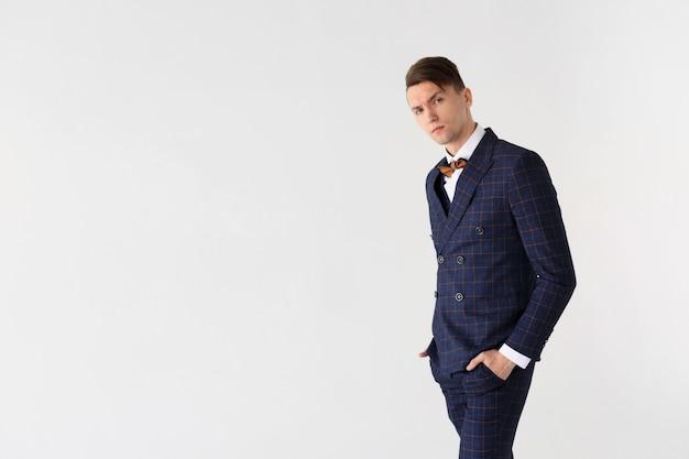 Businessman portrait on white
