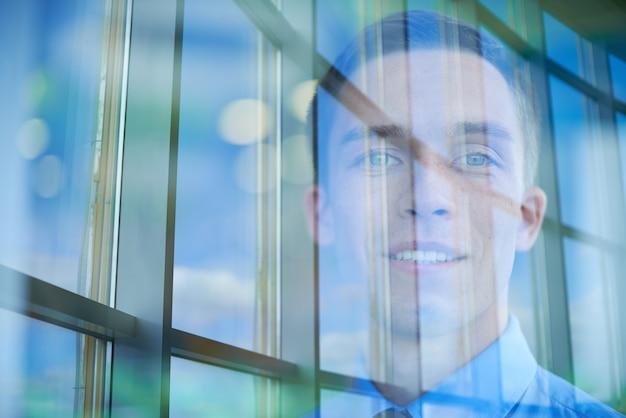 Businessman reflection