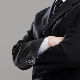 Businessman's torso in suit
