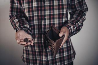 Businessman saving money