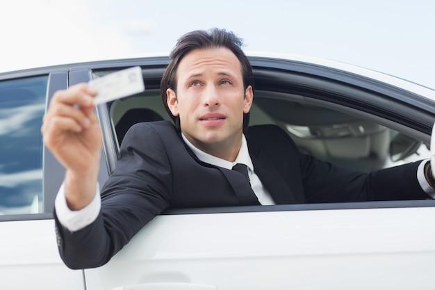 Предприниматель с указанием водительских прав