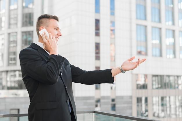 Businessman talking on phone