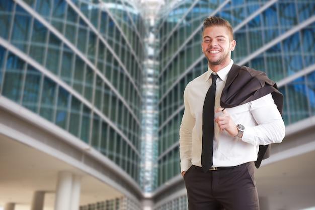 Businessman in urban environment
