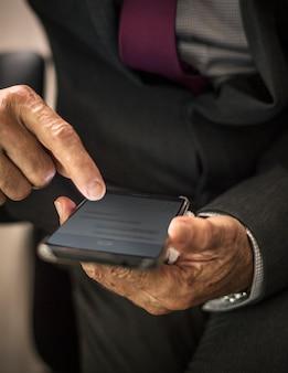 Businessman using his mobile phone